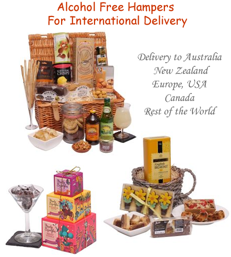 alcohol free hampers for overseas