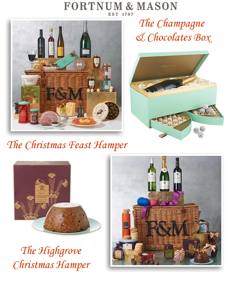 Fortnum & Mason Christmas wicker hamper baskets worldwide delivery