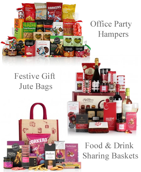 Christmas sharing office party hampers