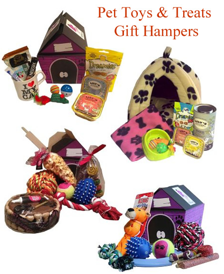 Cat And Dog Presents Toys Treat Hamper Gifts Filled Pet Hampers