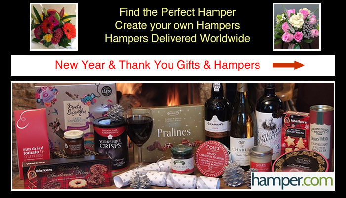 New Year Hamper Thank You Gifts Flowers and Hampers for Overseas