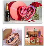 Pink Champagne Roses & Chocolates for Valentine's Day