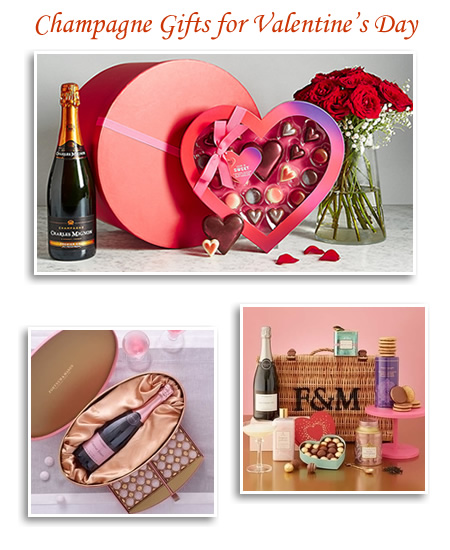 Champagne Roses And Chocolate Valentine Gift Hampers