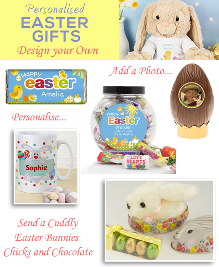 Personalised chocolate gifts easter egg hunt mini eggs soft toys personalised hampers easter egg hunt gifts soft toys negle Images