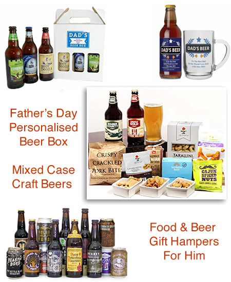 Craft beer hampers lager cases and real ale gifts for Fathers Day