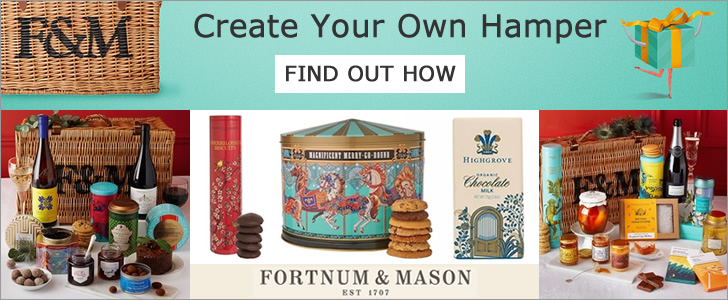 Fortnum & Mason luxury bespoke hampers create your own hamper
