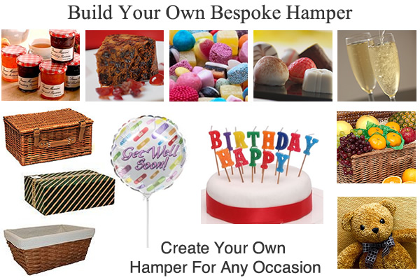 Create Your Own Bespoke Hampers for UK and Overseas
