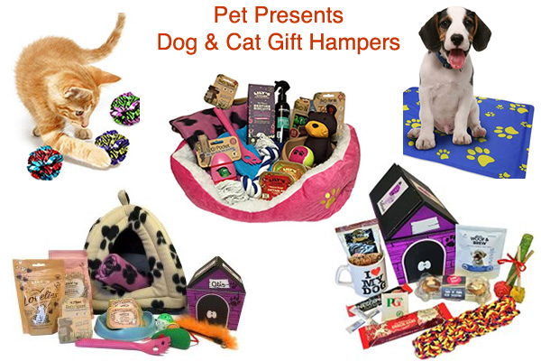 Cat and Dog Pet Hampers Treats and Toys