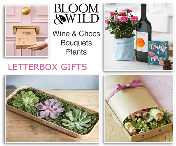Letterbox plants luxury hand-tied bouquets flowers thank you gifts