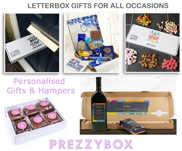 Letterbox gifts for mum, dad, elderly letter box hamper presents special occasion personalised postal gifts