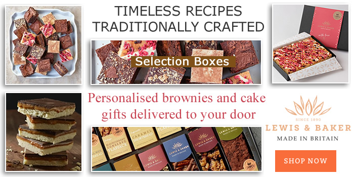 Personalised Brownies and Cake Selection Boxes