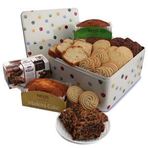 Tins of Luxury Biscuits Cookies and Cake Gift Hampers