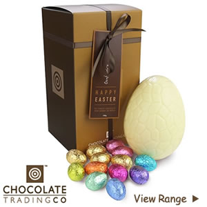 Luxury White Chocolate Easter Eggs