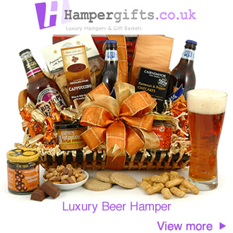 Luxury beer ale chocolate savoury biscuit hamper for him for Luxurious gifts for him